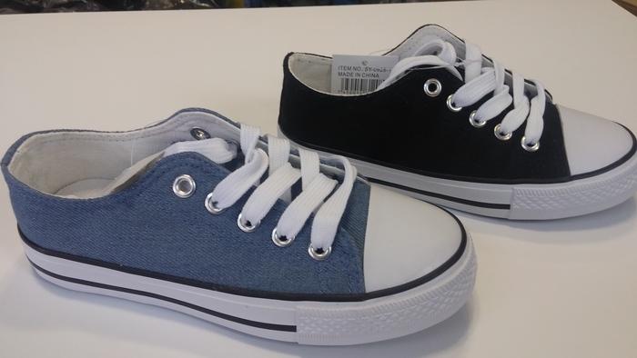 נעלי סניקרס אופנתיות יוניסקס בשני צבעים לבחירה שחור וג'ינס ...