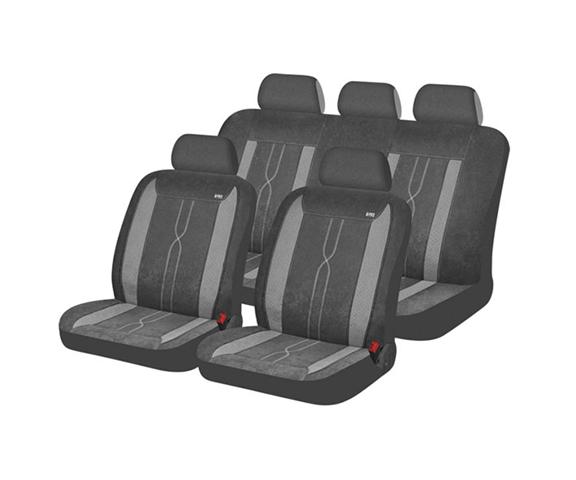 סט כיסויי מושבים מרופד לסלון הרכב עשוי מבד