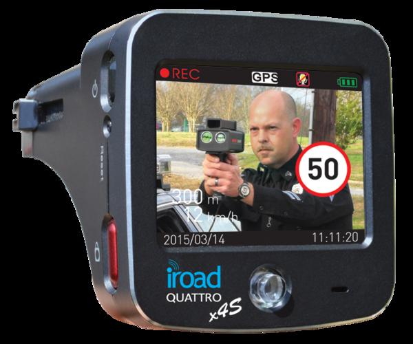 iRoad QUATTRO 4S הכל במכשיר אחד !!  גלאי רדאר ולייזר, מצלמת...