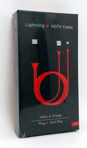 כבל HDNI לאיפון 5,6,7 לצפיה בטלויזיה -עובד מושלם ללא צורך ב...