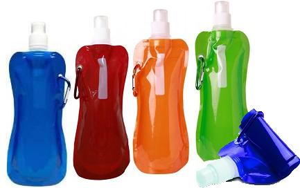 בקבוק / שקית שתיה אקולוגי, גמיש, קומפקטי וניתן לקיפול !!! כו...