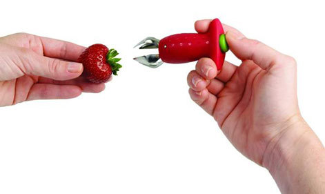 פורס תותים + מסיר עוקץ תות ופנים של עגבניה לקינוח מושלם ! ש...