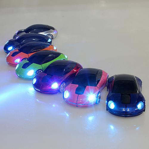 עכבר למחשב בצורת מכונית המדליקה אורות, בחיבור USB !! כולל מש...