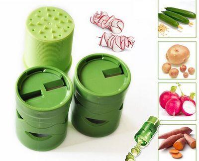 חותך ירקות בצורה דקורטיבית ויוצר עיטורים בקלות ובמהירות!!...