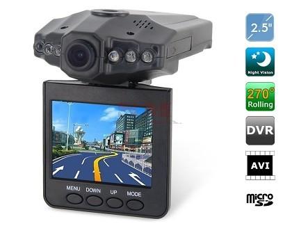 מצלמה מקליטה ומתעדת לרכב DVR  , מסך