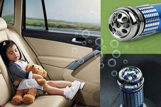 מטהר אוויר אלקטרוני לרכב המתחבר למצת הרכב, מסנן ריחות, מנקה...