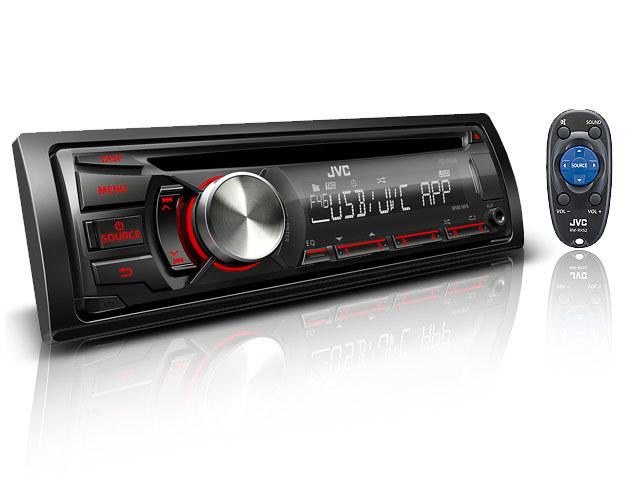 רדיו דיסק לרכב מבית JVC KD-R446 חדש חדש USB AUX יציאה למגב...