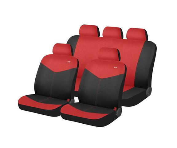 סט כיסויי מושבים לסלון הרכב עשוי מבד עמיד ומונע זיעה של המו...