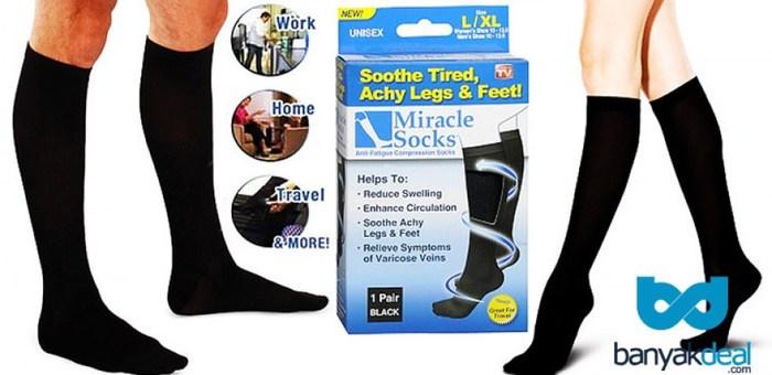 סובלים מנקעים חוזרים ונשנים ? קבלו את גרבי ה Miracle socks ...