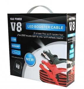 כבלים להתנעה 600 אמפר משולב בודק מצברים לרכב ,רק 99 ₪ במקום ...