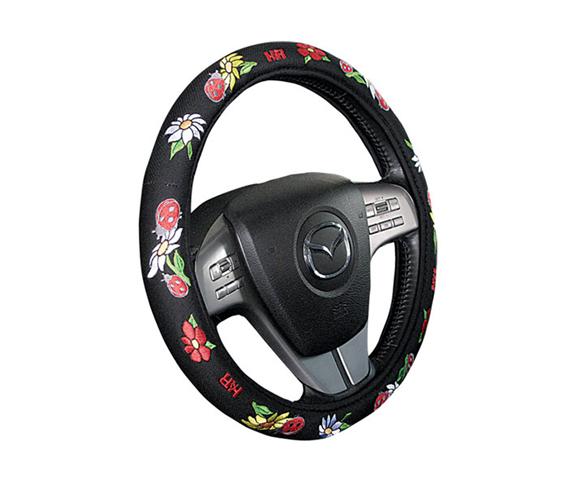 מחדשים את הרכב עם כיסוי הגה פרחים בעל מגע קטיפתי לאחיזה יצי...