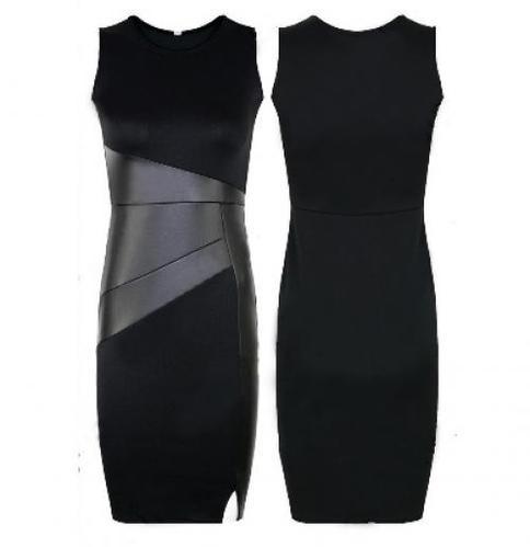שמלה צמודה ומחטבת בצבע שחור במספר מידות לבחירה להופעה מושל...