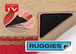 מארז 8 מדבקות לשטיחים למניעת תזוזה והחלקה, ניתנות לשטיפה חו...