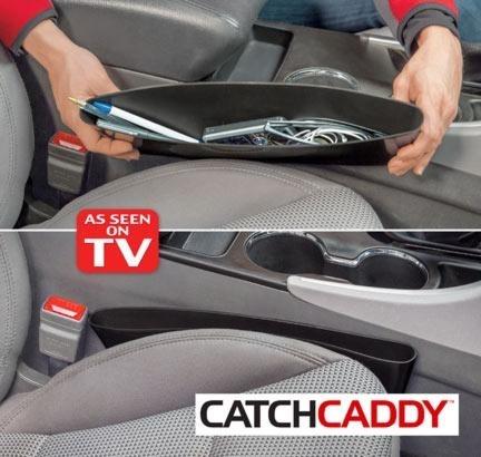 זוג תופסני  הכיס  לרכב Catch Caddy המוצר שישמור על רכבך נ...