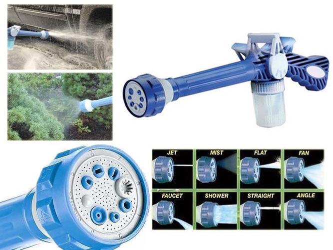 תותח מים בעל 8 מצבים ומיכל סבון לניקיון הבית, הרכב ולהשקיה ...