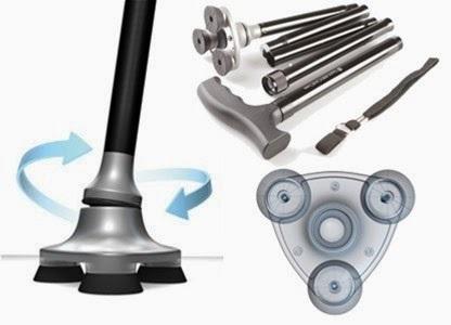 מקל הפלא - MAGIC CANE - מקל הליכה עמיד וקל משקל עם מנורת הל...