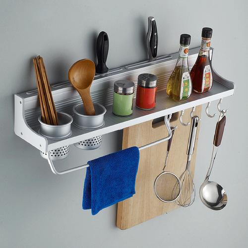מדף אחסון למטבח  עשוי נירוסטה לאחסון  כלי מטבח ותבלינים + מ...