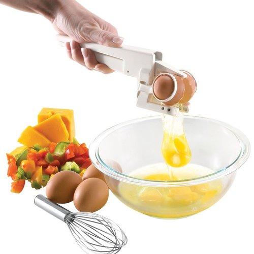 מפצח ביצים השובר ביצים בקלות וללא שאריות קליפה , מפריד חלבו...