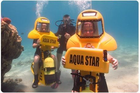 אטרקציה ימית חדשה באילת!!! 30 דקות צלילה בצוללת אישית Aquastar  !!! רק 160 ₪ במקום 320 ₪ !!!