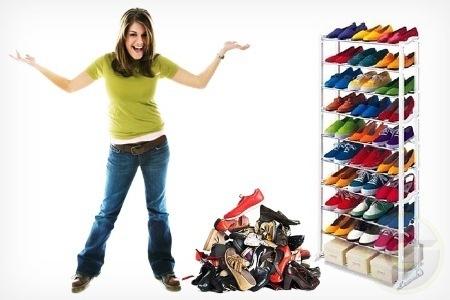 פתרון מצוין לחסכון במקום ולארגון וסדר , מעמד נעליים המאחסן 3...