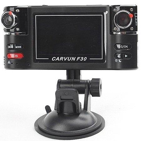 מצלמת דרך לרכב כפולה דגם F30 ,מסך TFT חד בגודל 2.7 אינץ' אפ...