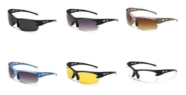משקפי שמש אופנתיים בסגנון ספורטיבי, במבחר צבעים לבחירה רק ב...