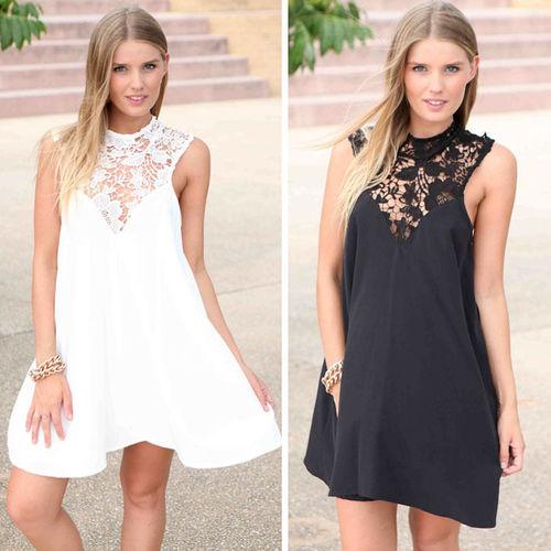 שמלת מיני אופנתית, שתעשה לך את הלוק, בשחור או בלבן  במחיר ש...