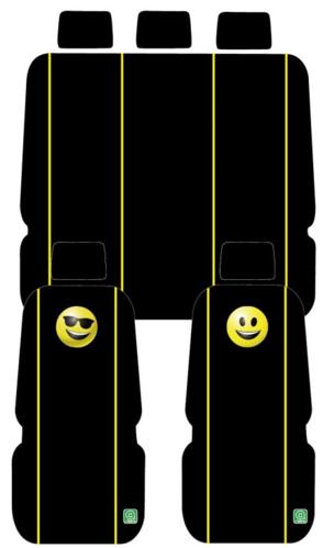 כיסוי מושבים אימוג'י סמיילי / משקפיים בצבע שחור רק 179 ש