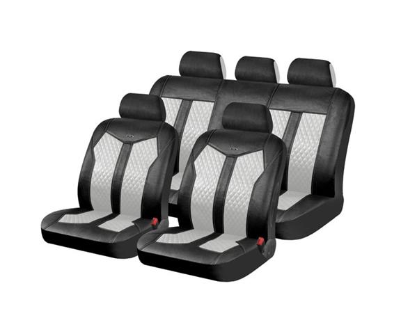 סט כיסויי מושבים מרופד לסלון הרכב עשוי מעור סינטטי איכותי ו...