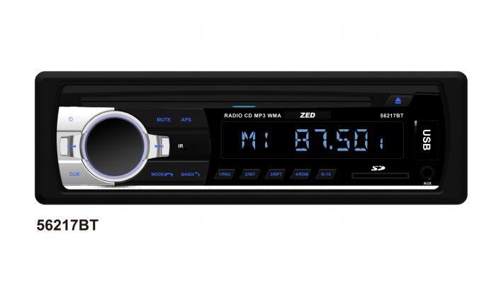 רדיו דיסק בלוטוס ZED 56217BT כולל כניסות : SD /  AUX /   US...