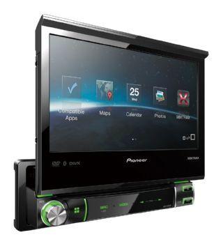 רדיו דיסק DVD לרכב דגם AVH-7550BT PIONEER מתחבר עם אייפון ...