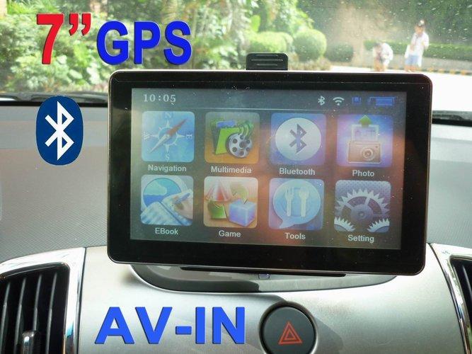 מערכת ניווט כוללת דיבורית BT BT GPS '7 קל ופשוט להפעלה רק 6...
