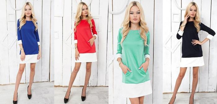 שמלה קלילה ואופנתית עם שרוול 3/4 במגוון צבעים לבחירה רק 109...