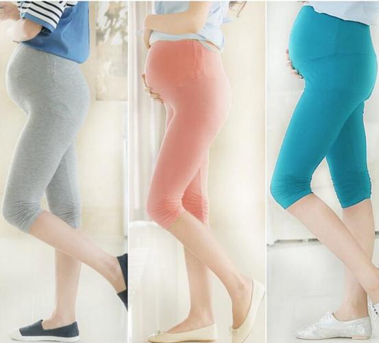 מכנס קליל ונח לנשים בהריון או אחרי לידה עם מותן גבוה ודוגמת...