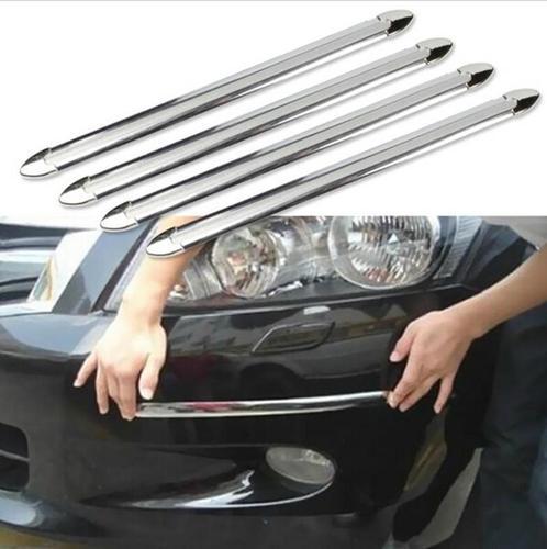 4 יח' פס מגן לפגוש ולטמבון עשוי PVC גמיש להתאמת כל משטח ברכב...