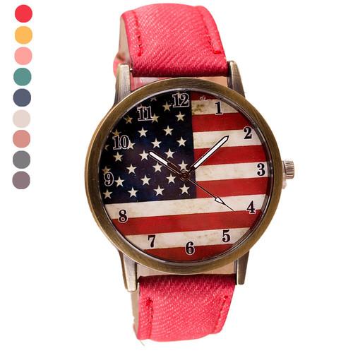 חגיגת שעונים ב- COUPO ! שעון יד דגל ארה