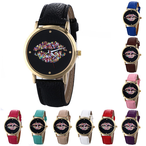 חגיגת שעונים ב- COUPO ! שעון יד שפתיים אלגנטי וקלאסי לנשים,...