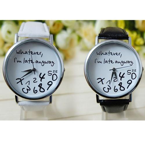 חגיגת שעונים ב- COUPO ! שעון יד Whatever I am Late Anyway...