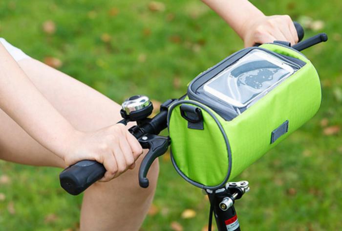 תיק מדליק לכידון האופניים בעיצוב אופנתי עם גישה נוחה למסך ה...