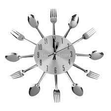שעון קיר מעוצב ואיכותי למטבח בעיצוב של כלי מטבח רק ב-89 ש